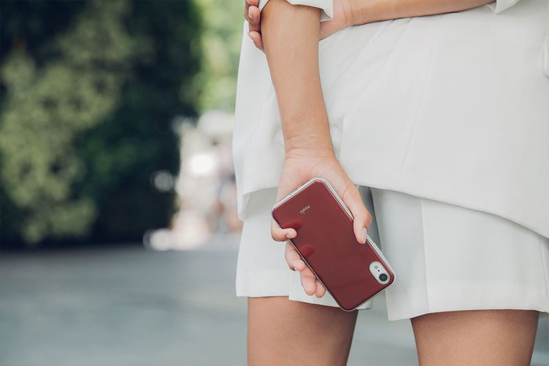 Moshi iGlaze - Etui iPhone XR (Merlot Red)
