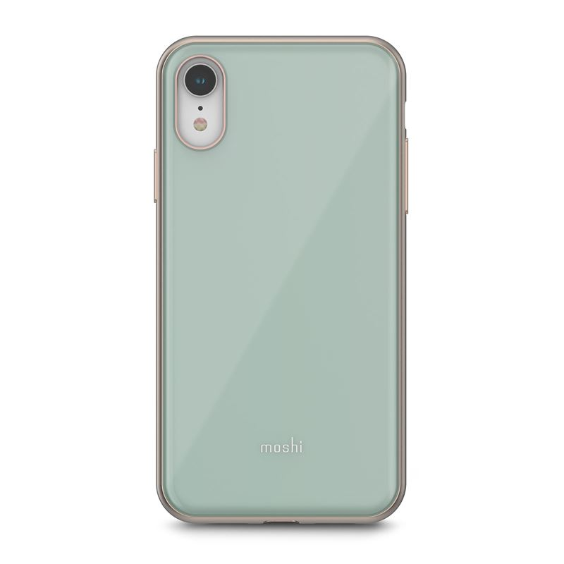 Moshi iGlaze - Etui iPhone XR (system SnapTo) (Powder Blue)