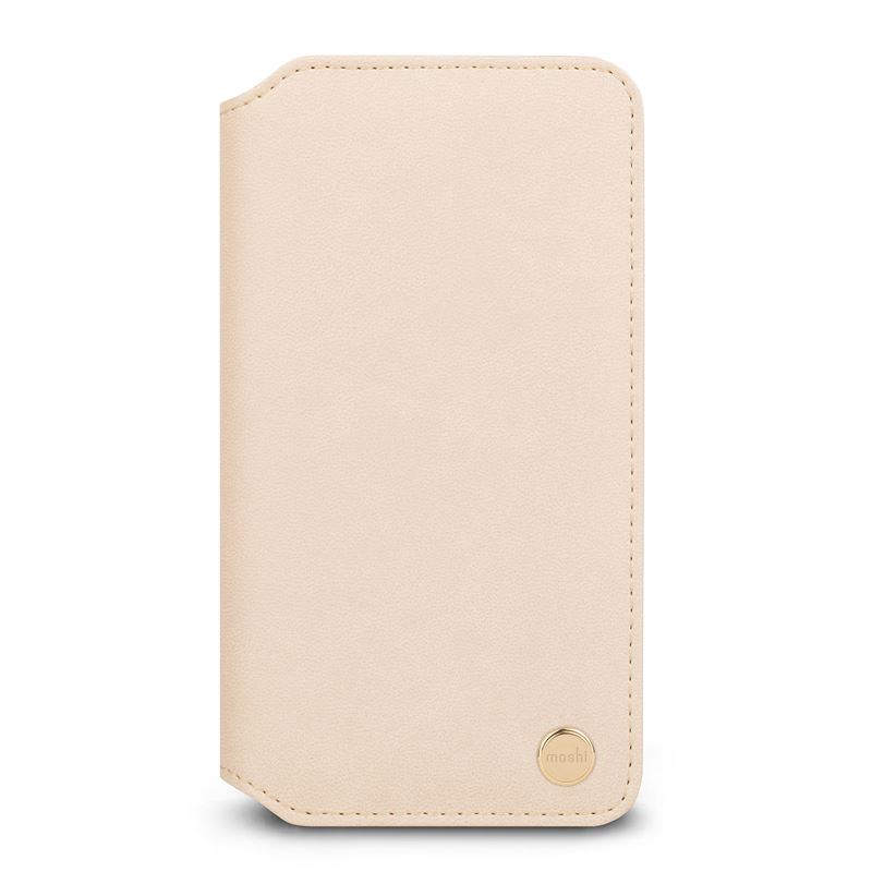 Moshi Overture - Etui iPhone Xs Max z kieszenią na karty + stand up (Savanna Beige)