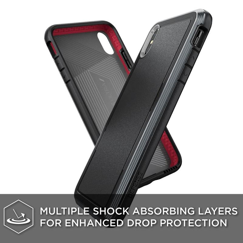 X-Doria Defense Ultra - Pancerne etui iPhone Xs Max (Drop test 4m) (Black)