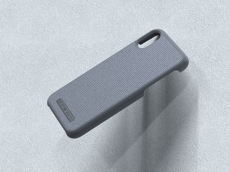 Nordic Elements Original Idun - Materiałowe etui iPhone Xs / X (Mid Grey)