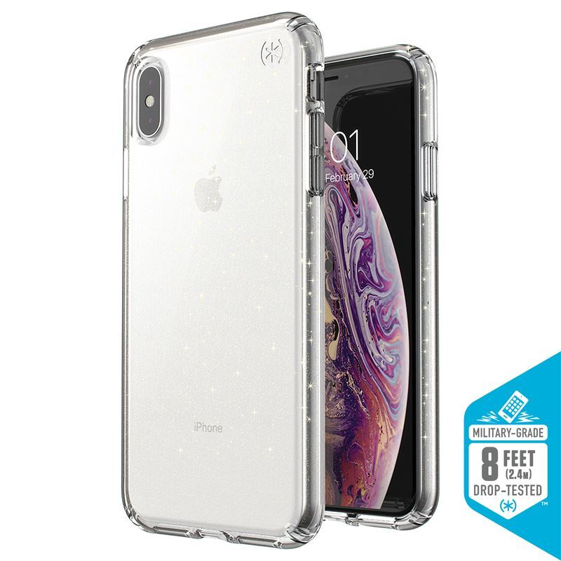 Speck Presidio Clear with Glitter - Etui iPhone Xs Max (Gold Glitter/Clear)
