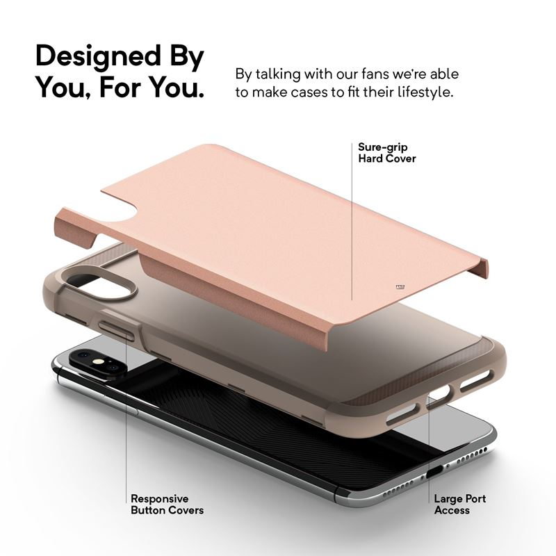 Caseology Legion Case - Etui iPhone Xs Max (Rose Gold)