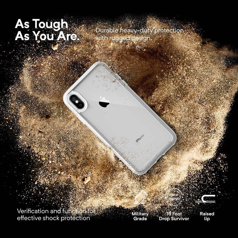 Caseology Skyfall Case - Etui iPhone Xs Max (Silver)