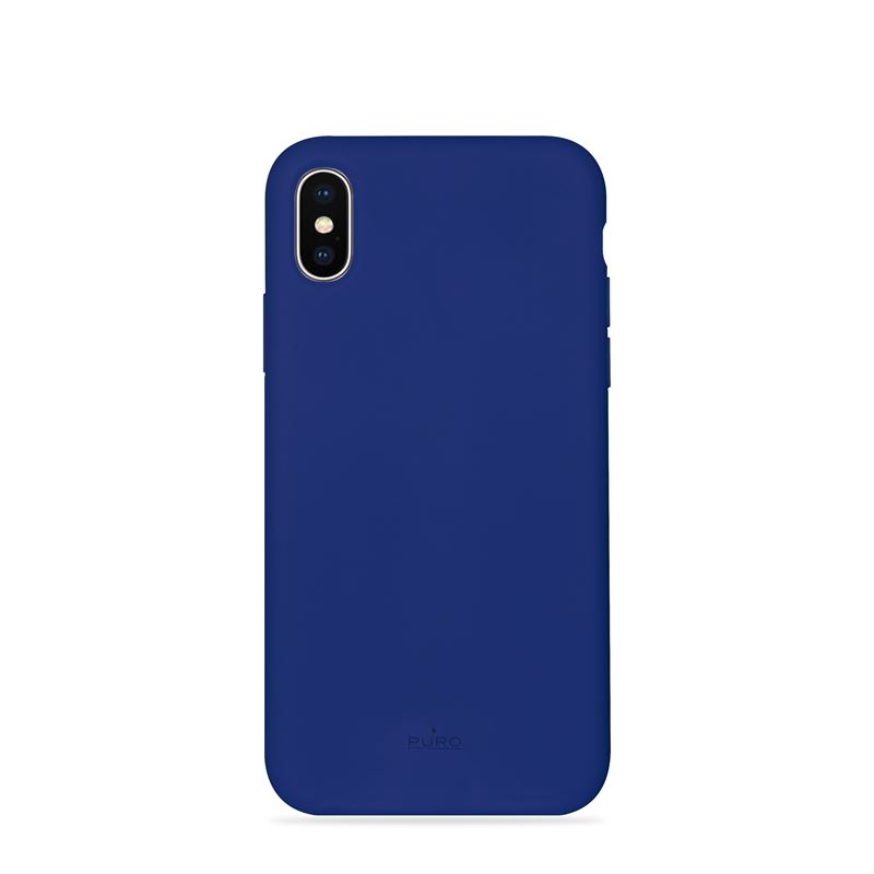 PURO ICON Cover - Etui iPhone Xs Max (granatowy) Limited edition