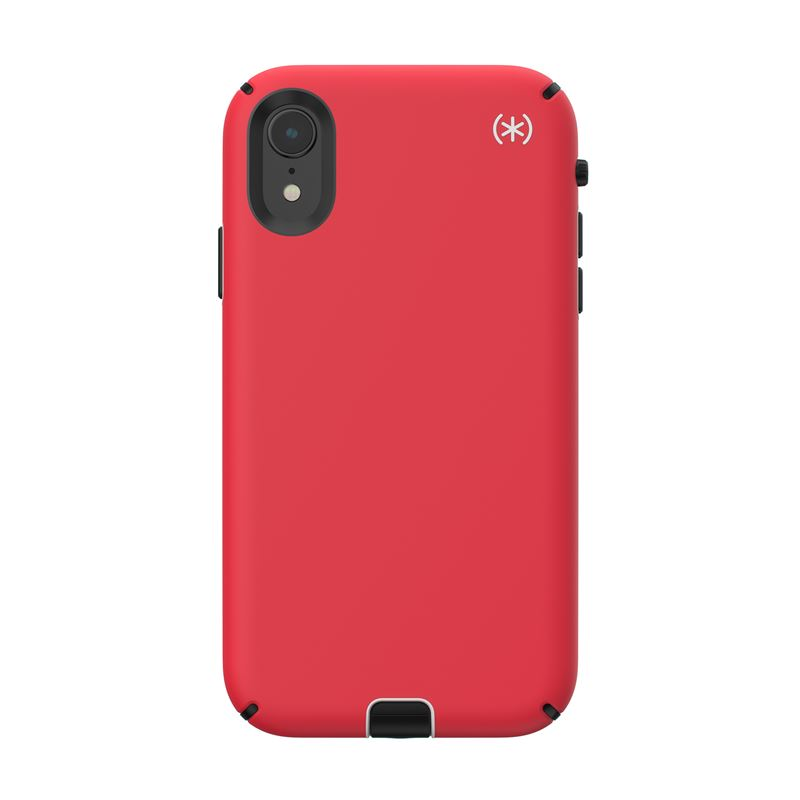 Speck Presidio Sport - Etui iPhone XR (Heartrate Red/Sidewalk Grey/Black)