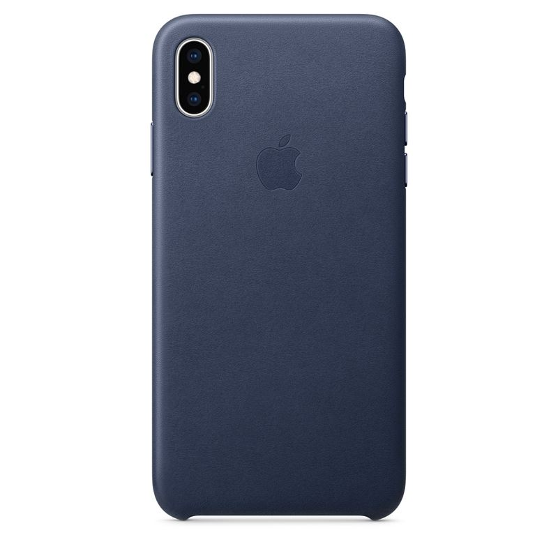 Apple Leather Case - Skórzane etui iPhone Xs Max (nocny błękit)