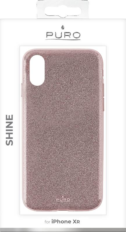 PURO Glitter Shine Cover - Etui iPhone XR (Rose Gold)