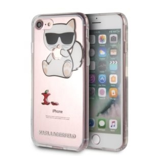 Karl Lagerfeld Choupette Fun Eaten Apple -  Etui iPhone 8 / 7 (przezroczysty)
