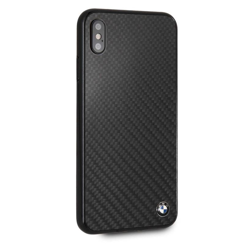 BMW Real Carbon Fiber Case - Etui aluminiowe iPhone Xs Max (Black)