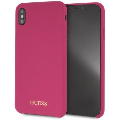 Guess Silicone - Etui iPhone Xs Max (Pink)