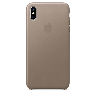 Apple Leather Case - Skórzane etui iPhone Xs Max (jasnobeżowy)
