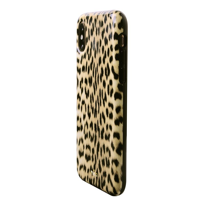 PURO Glam Leopard Cover - Etui iPhone Xs / X (Leo 1) Limited edition