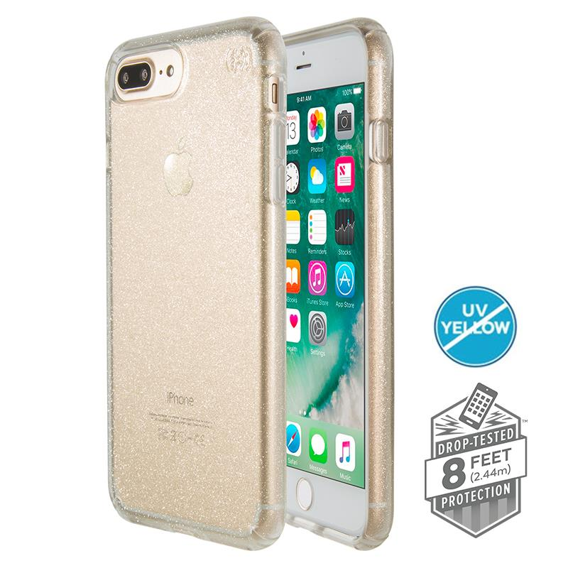 Speck Presidio Clear with Glitter - Etui iPhone 8 Plus / 7 Plus / 6s Plus / 6 Plus (Gold Glitter/Clear)