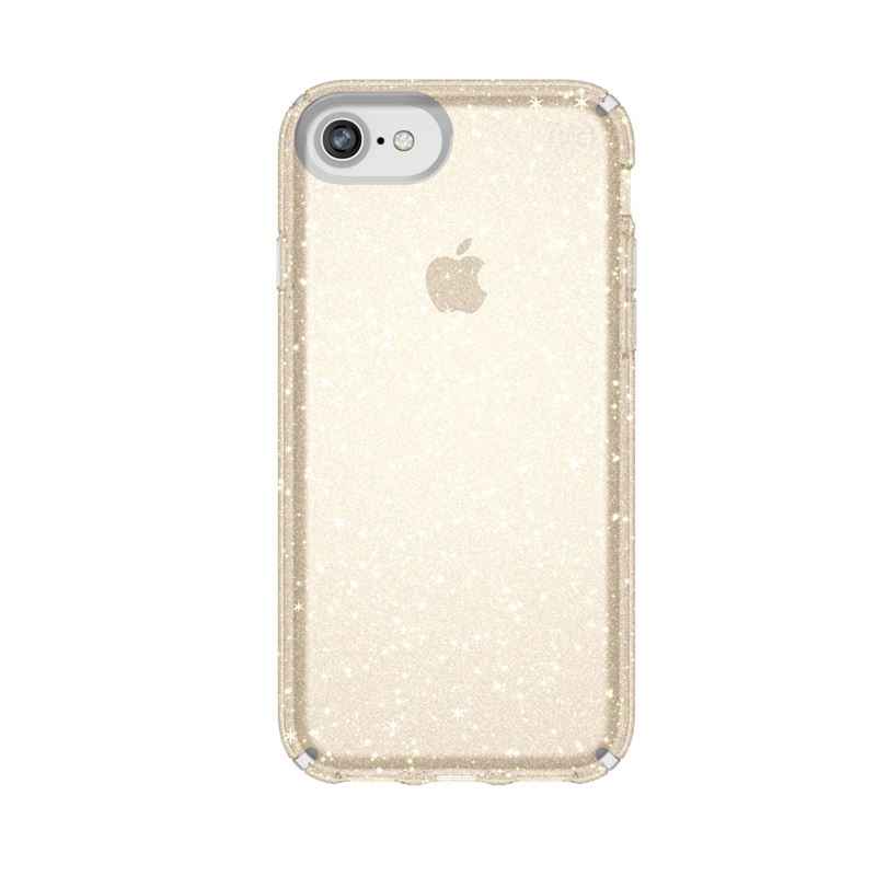 Speck Presidio Clear with Glitter - Etui iPhone 8 / 7 / 6s / 6 (Gold Glitter/Clear)