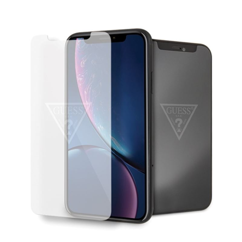 Guess Tempered Glass with invisible logo - Szkło ochronne hartowane iPhone XR