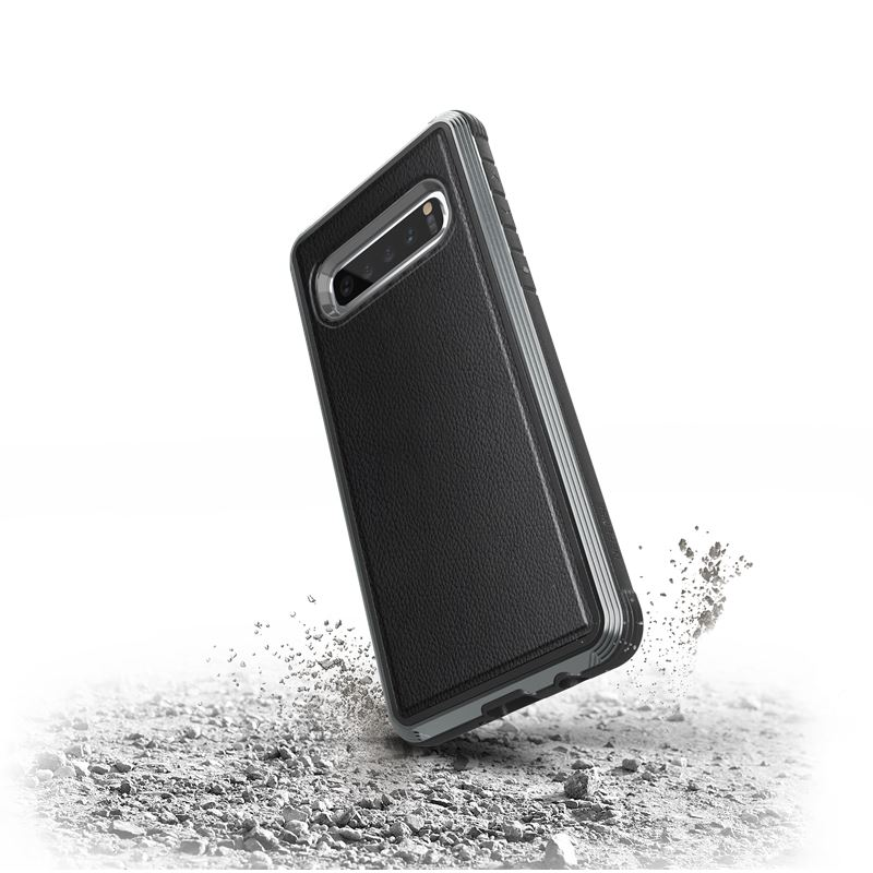 X-Doria Defense Lux - Etui aluminiowe Samsung Galaxy S10 (Drop test 3m) (Black Leather)
