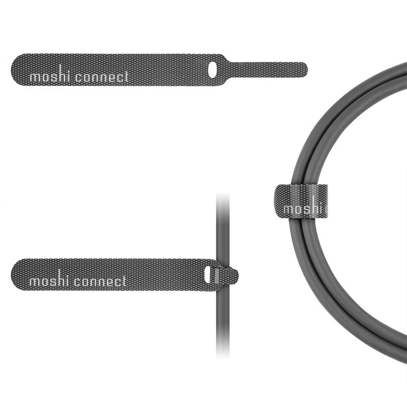 Moshi USB-C Monitor Cable - Kabel USB-C Power Delivery 100 W, 4K (Gray/Gold)