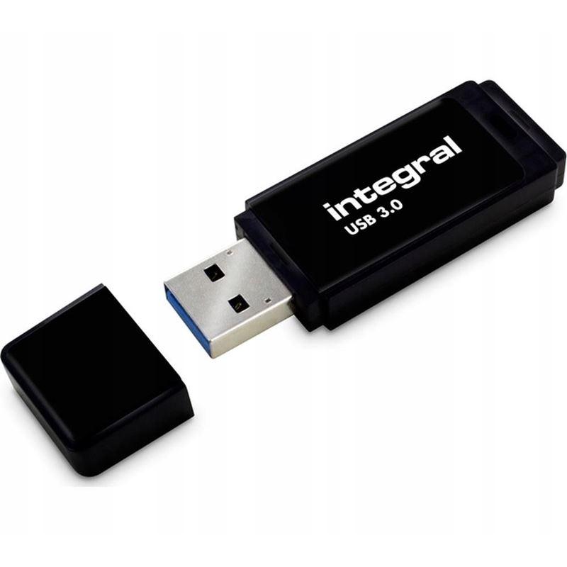 Integral Black USB 3.0 Flash Drive - Pendrive USB 3.0 64 GB