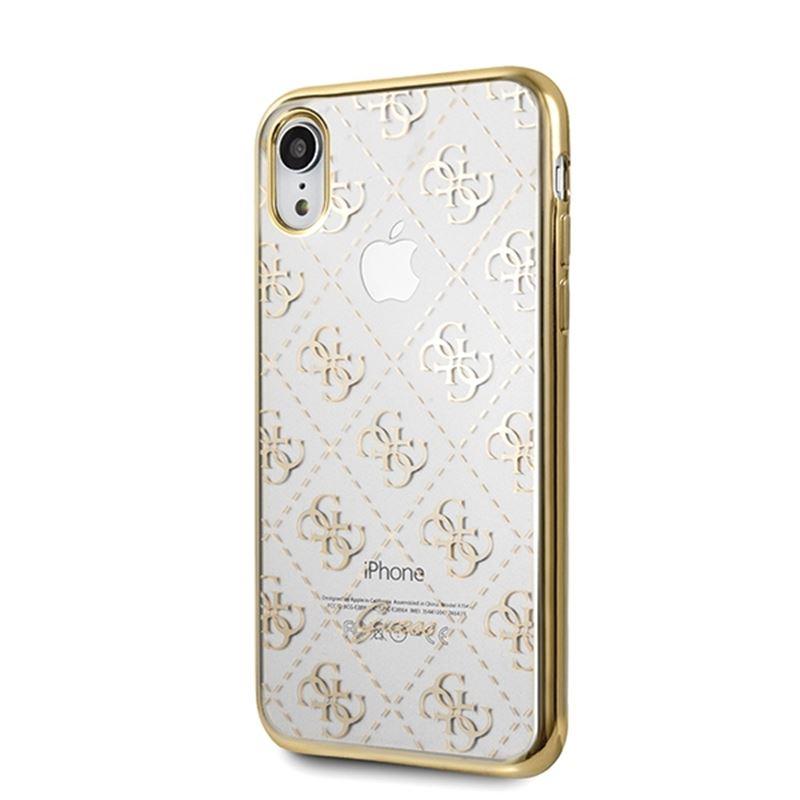 Guess 4G Transparent - Etui iPhone XR (złoty)