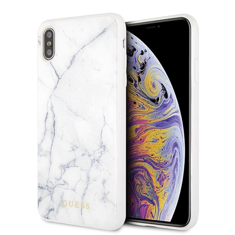 Guess Marble - Etui iPhone Xs Max (biały)