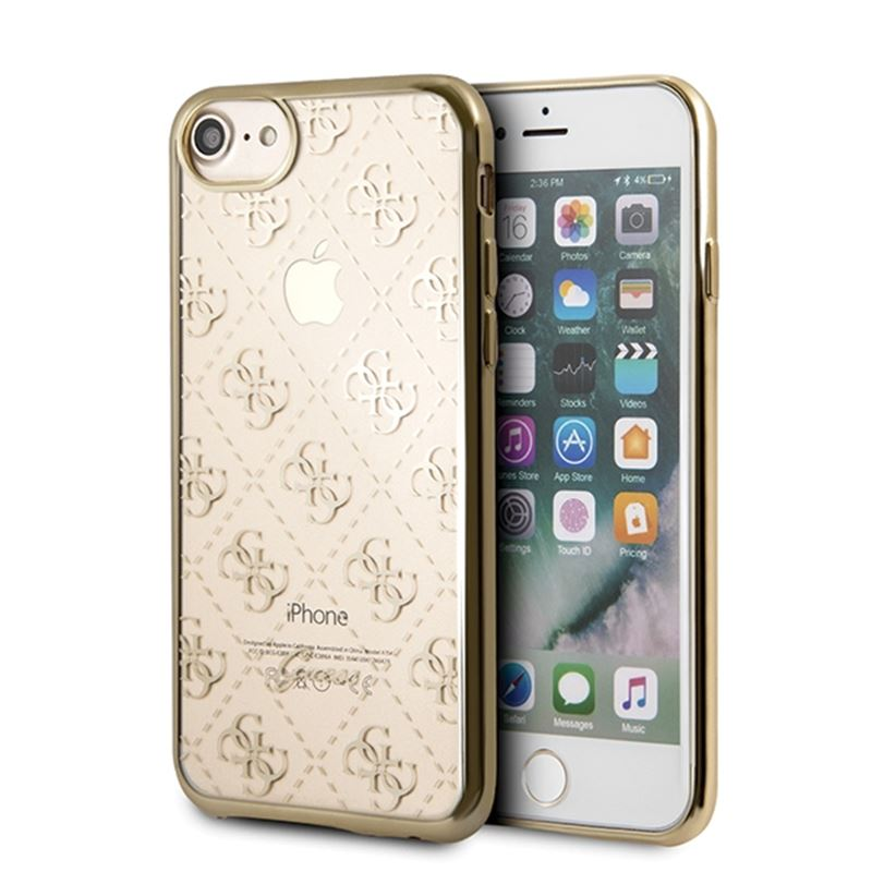 Guess 4G Transparent - Etui iPhone 8 / 7 (złoty)