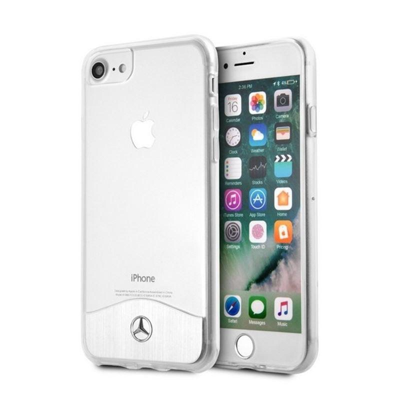 Mercedes Wave IX Line - Etui aluminiowe iPhone 8 / 7 / 6 (srebrny)