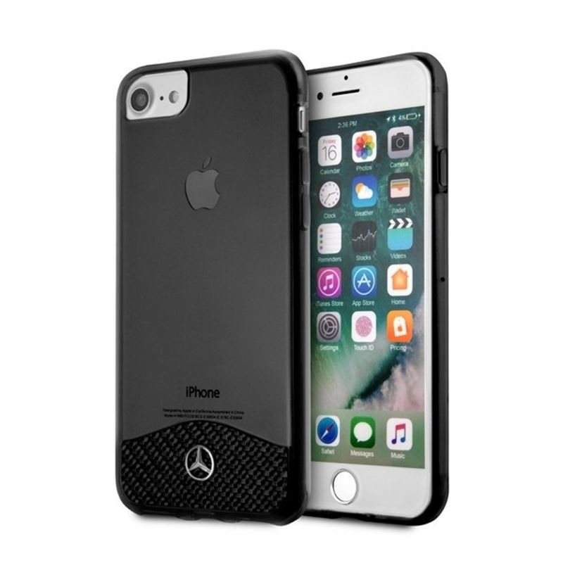 Mercedes Wave IX Line - Etui aluminiowe iPhone 8 / 7 / 6 (czarny)