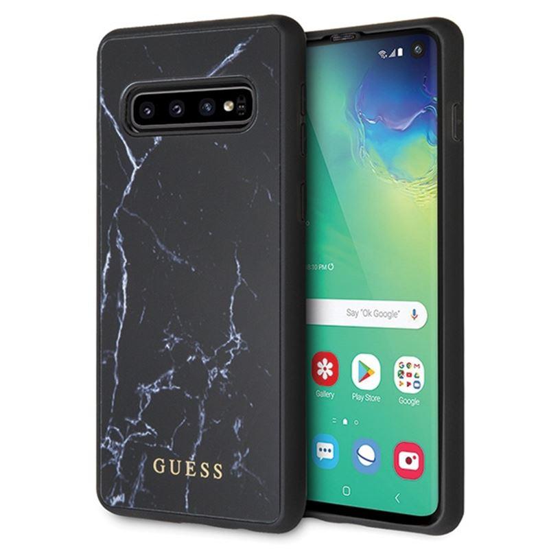 Guess Marble - Etui Samsung Galaxy S10 (czarny)