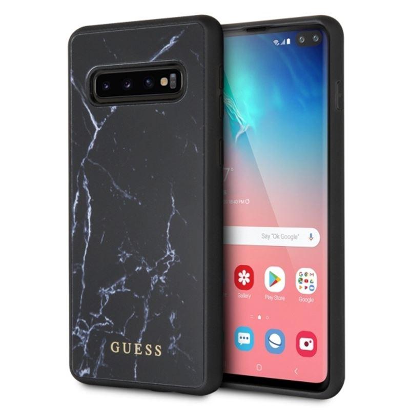 Guess Marble - Etui Samsung Galaxy S10+ (czarny)