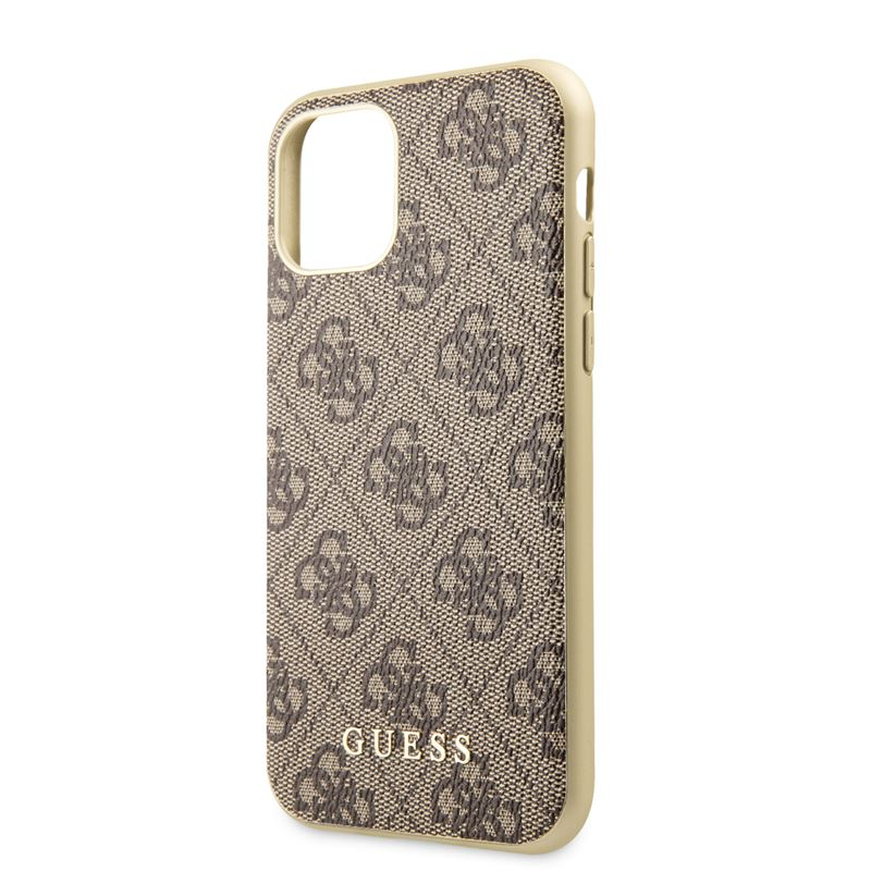 Guess 4G Charms Collection - Etui iPhone 11 Pro (brązowy)