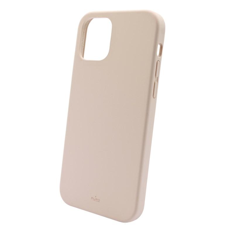 PURO ICON Anti-Microbial Cover - Etui iPhone 12 /  iPhone 12 Pro z ochroną antybakteryjną (różowy)