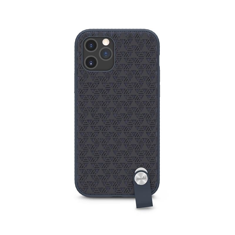 Moshi Altra - Etui z odpinaną smyczką iPhone 12 / iPhone 12 Pro (system SnapTo) (Denim Blue)