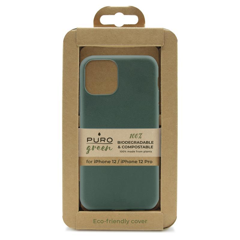 PURO Green Compostable Eco-friendly Cover - Ekologiczne etui iPhone 12 / iPhone 12 Pro (zielony)