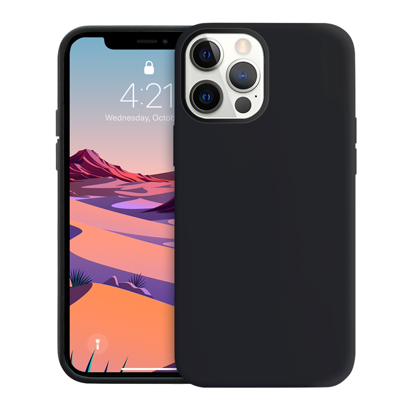 Crong Color Cover - Etui iPhone 12 Pro Max (czarny)