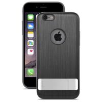 Moshi iGlaze Kameleon - Etui hardshell z podstawką iPhone 6s Plus / iPhone 6 Plus (Steel Black)