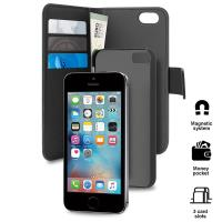 PURO Wallet Detachable - Etui 2w1 iPhone SE / iPhone 5s / iPhone 5 (czarny)