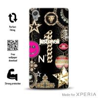 JUST CAVALLI Leo Star Cover MFX - Etui Sony Xperia XA (Black)