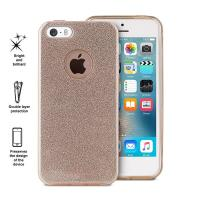 PURO Glitter Shine Cover - Etui iPhone SE / iPhone 5s / iPhone 5 (Gold)