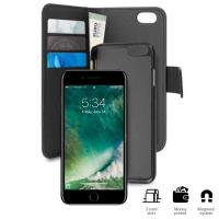 PURO Wallet Detachable - Etui 2w1 iPhone 8 / 7 / 6s / 6 (czarny)