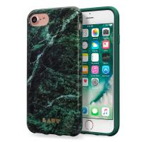 Laut HUEX ELEMENTS - Etui iPhone 8 / 7 / 6s / 6 z 2 foliami na ekran w zestawie (Marble Emerald)