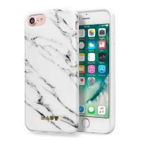 Laut HUEX ELEMENTS - Etui iPhone 8 / 7 / 6s / 6 z 2 foliami na ekran w zestawie (Marble White)