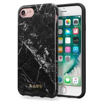 Laut HUEX ELEMENTS - Etui iPhone 8 / 7 / 6s / 6 z 2 foliami na ekran w zestawie (Marble Black)