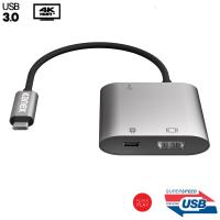 Kanex USB-C Multimedia Charging Adapter - Adapter USB-C na USB 3.0 & HDMI + USB-C PD Port (Space Gray)