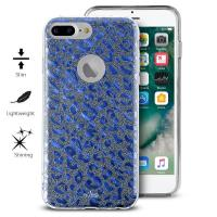 PURO Glitter Shine Leopard Cover - Etui iPhone 8 Plus / 7 Plus / 6s Plus / 6 Plus (Blue) Limited edition
