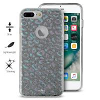 PURO Glitter Shine Leopard Cover - Etui iPhone 8 Plus / 7 Plus / 6s Plus / 6 Plus (Iridescent) Limited edition