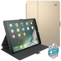 "Speck Balance Folio Metallic - Etui iPad 9.7"" (2018/2017) / iPad Pro 9.7"" / iPad Air 2 / iPad Air w/Magnet & Stand up (Textured White Gold/Graphite Grey)"