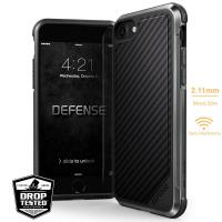 X-Doria Defense Lux - Etui aluminiowe iPhone 8 / 7 (Black Carbon Fiber)