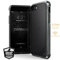 X-Doria Defense Lux - Etui aluminiowe iPhone 8 / 7 (Black Leather)