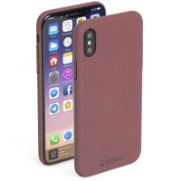 Krusell Sandby Cover - Etui iPhone X (Rust)